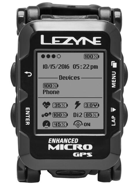 Lezyne GPS Watch mit Herzfrequenzmessgerät schwarz